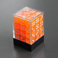 Набор шестигранных кубиков прозрачный оранжевый (36 штук)