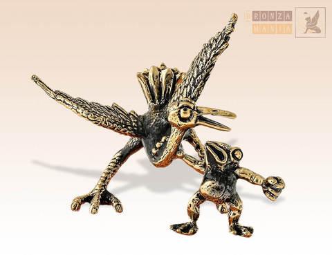 фигурка Цапля и лягушка