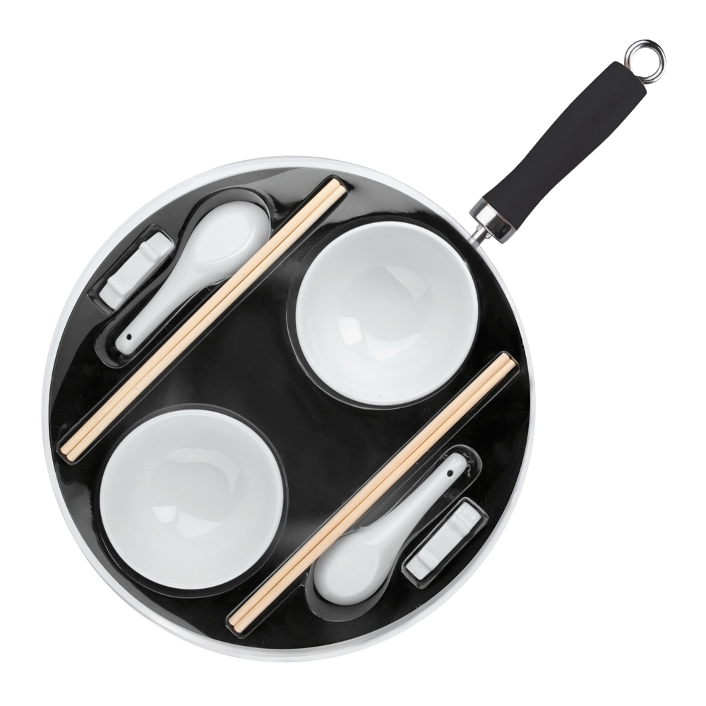 Набор для приготовления азиатской кухни IBILI Moka арт. 450630Воки<br>Набор для приготовления азиатской кухни IBILI Moka арт. 450630<br><br>Вок с антипригарным покрытием диаметром 30см, высота 8см.<br>Пиалы - 2шт.<br>Ложки - 2шт.<br>2 комплекта палочек.<br>2 подставки для палочек.<br>Официальный продавец IBILI<br>