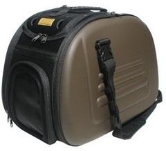 Складная сумка-переноска для собак и кошек до 6 кг, Ibiyaya, коричневая
