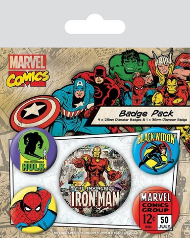Набор значков Marvel Comics IRON MAN