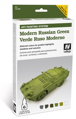 Model Air AFV Modern Russian Green Armour Painting System (6) 8 ml.