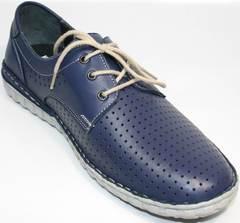 Синие мужские мокасины Komcero 9Y8944-106.
