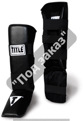 Защита ног классическая TITLE BOXING VINYL SHIN/INSTEP GUARDS
