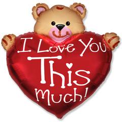 F Мини фигура Мишка Я тебя люблю / Bear Love (14
