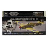 Набор красок Acrylicos Vallejo, Model Air, 8 шт RAF Colors Desert Scheme&M.T.O. 1940-1945