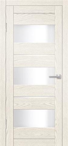 Дверь Porte Line 20, стекло снег, цвет ясень снежный, остекленная