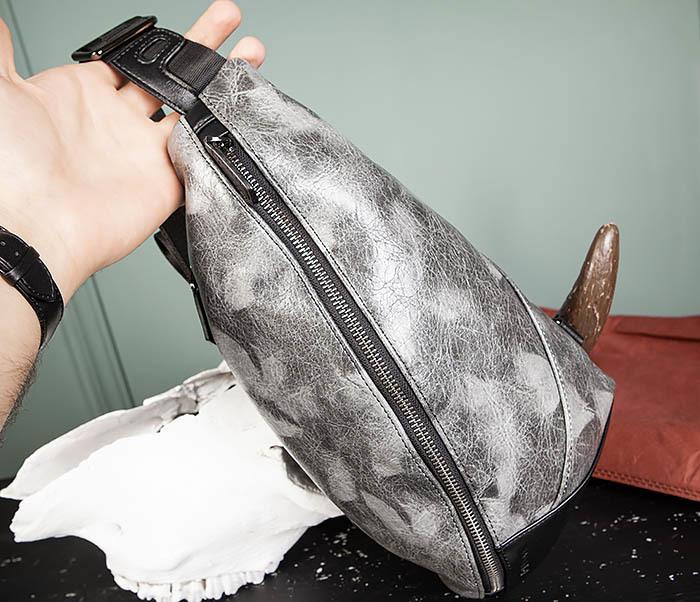 BAG487-3 Мужская сумка «банан» через плечо фото 05