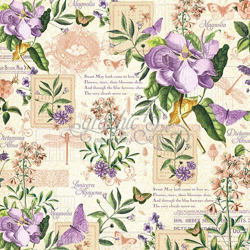 Бумага для скрапбукинга May Flourish Graphic45