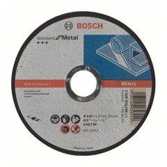 Отрезной круг Bosch Standard по металлу 125х1,6х22,23 мм прямой
