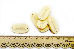 Бирка Hand Made деревянная 2,0*3,5см, набор 6 шт.