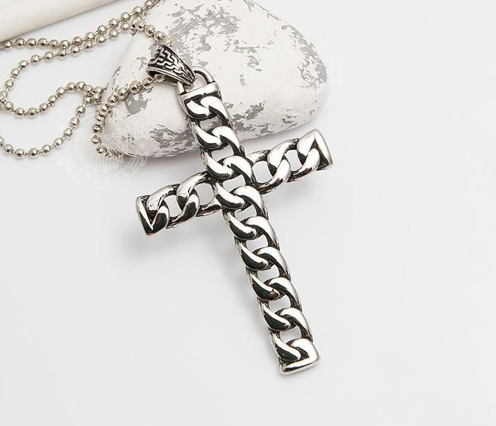 Фото - Spikes, Крупный мужской крест «Spikes» из стали необычного дизайна фото