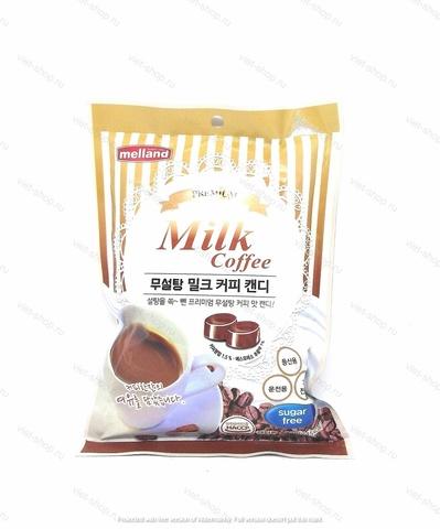 Карамель без сахара со вкусом кофе с молоком Premium milk coffee sugar free, Корея, 92 гр.