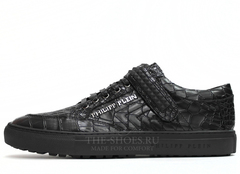 Кеды Мужские Philipp Plein Low-Top Embossed-Croc Limited