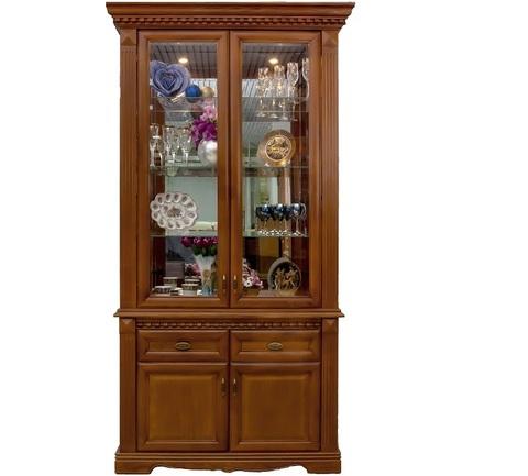 Шкаф с витриной 2 дв. Афина Высокий
