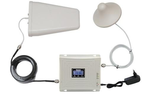 Усилитель репитер GSM 900 3G 2100 4G LTE 2600 МГц до 300м² (комплект)