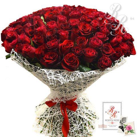 Букет 21 красная роза (Эквадор)