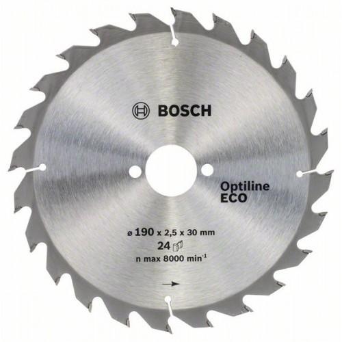 Диск по дереву BOSCH 190х2,5х30 мм Optiline ECO Z24