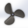 6817/3  WС Serie 3D Propeller 30cc steel