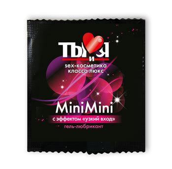 Возбуждающие: Женский сужающий гель-лубрикант MiniMini в одноразовой упаковке - 4 гр.