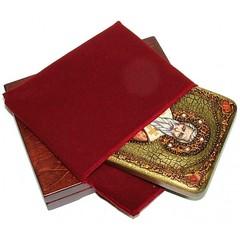 Инкрустированная икона Святитель Григорий Богослов 20х15см на натуральном дереве, в подарочной коробке