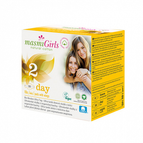 Masmi, Прокладки дневные с крылышками, для девочек-подростков