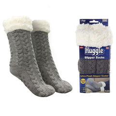 Плюшевые носки-тапочки Huggle Slipper Socks