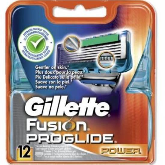 Сменные лезвия Gillette Fusion ProGlide Power 12 шт