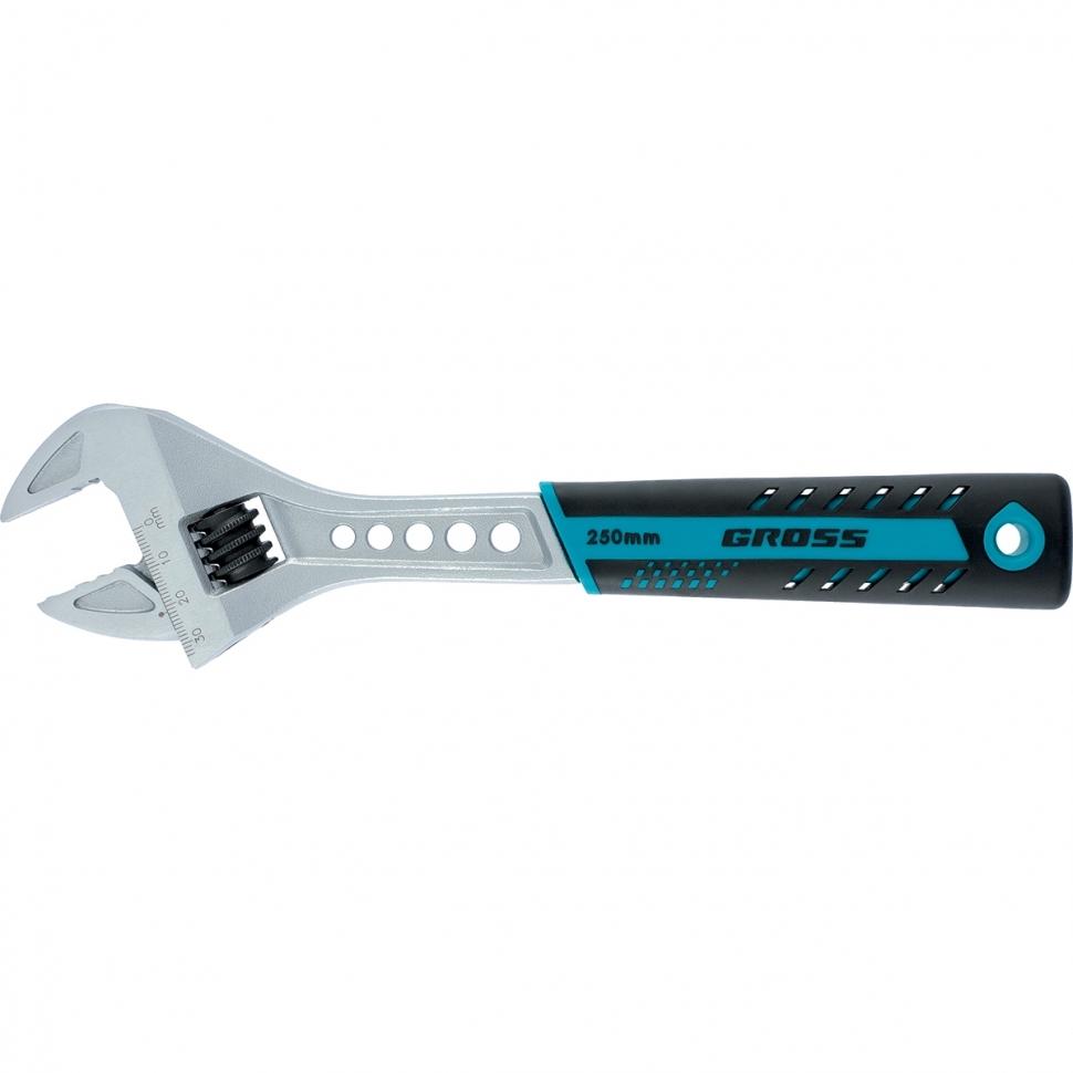 Ключ разводной, 250 мм,CrV, двухкомпонентная ручка GROSS