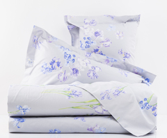 Постельное белье 2 спальное евро Mirabello Iris-2 серое