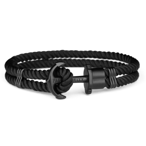 Nylon bracelet Total black