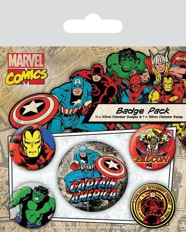 Набор значков Marvel Comics Captain America