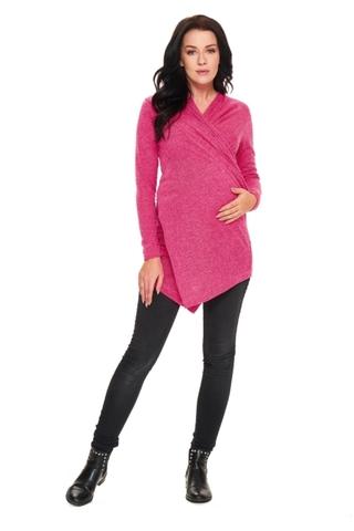 Свитер для беременных 09669 розовый