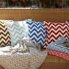 Элитная подушка декоративная Chevron голубая от Casual Avenue
