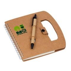 Блокнот, Lejoys, Recycled, на спирали, в комплекте с ручкой, 160*160 мм