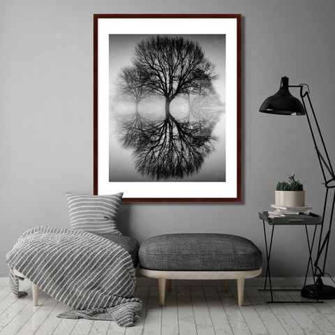 Ансель Адамс - Дерево на воде, 1949г