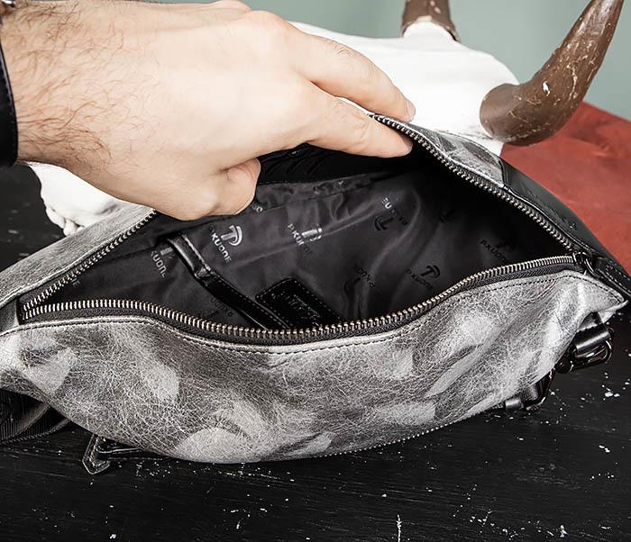 BAG487-3 Мужская сумка «банан» через плечо фото 11