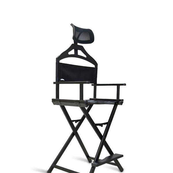 Мебель и оборудование для тату салона Складной стул для тату из алюминия с подголовником Разборный-алюминиевый-стул-визажиста-с-подголовником.jpg