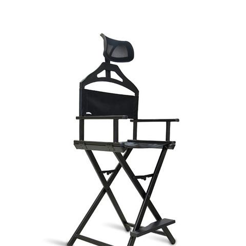 Складной стул для тату из алюминия с подголовником