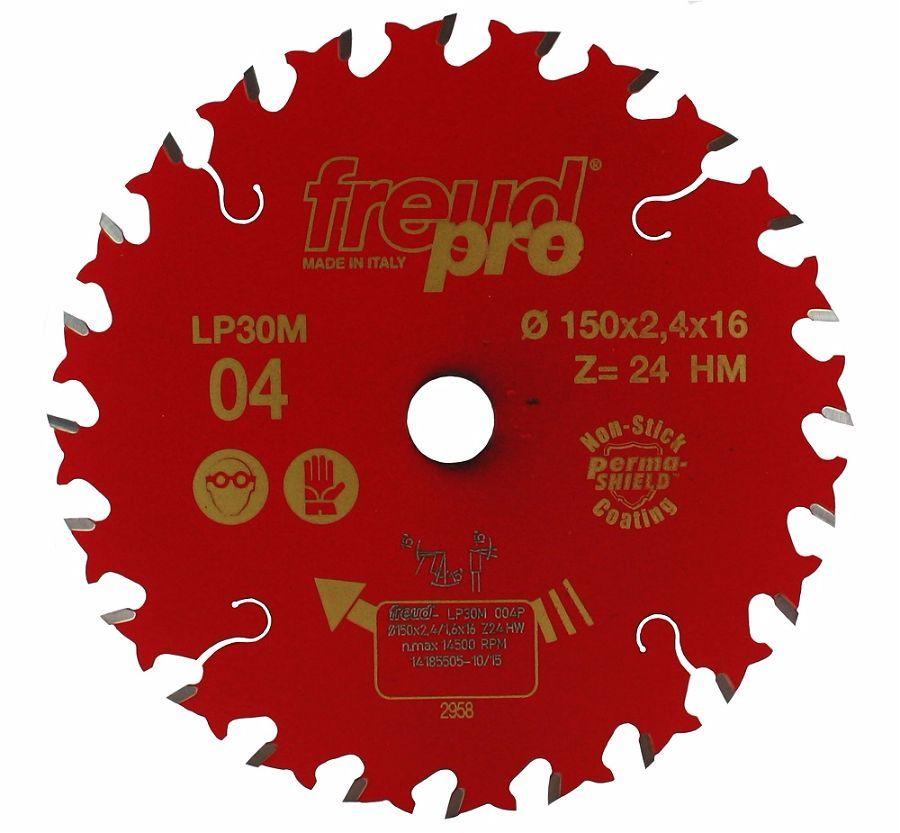 Диск пильный LP30M по дереву 150х16 мм, 24 зуб. FREUD PRO Freud LP30M004