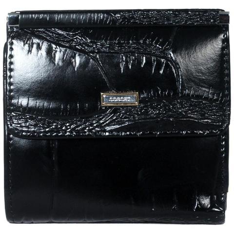 Маленький кошелёк чёрный женский Coscet нат.кожа CS25-108A