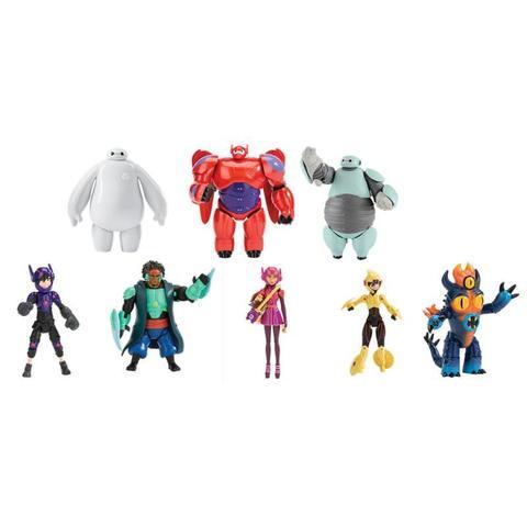 Игровой набор из 8 фигурок из мультфильма Город Героев - Big Hero, Bandai