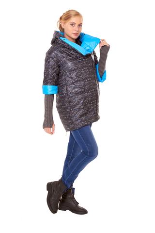 Куртка 07351 черный/синий