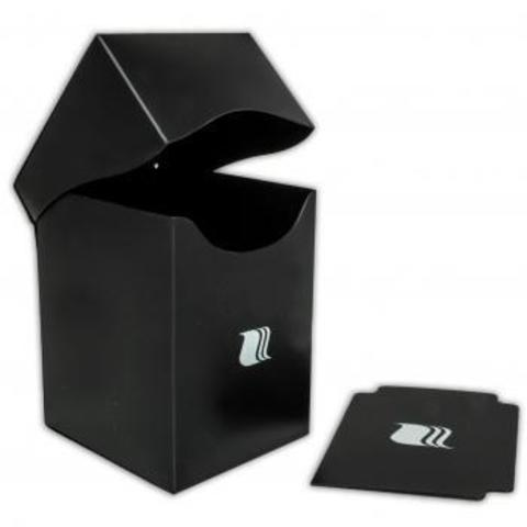 Пластиковая коробочка Blackfire вертикальная - черная (100+ карт)