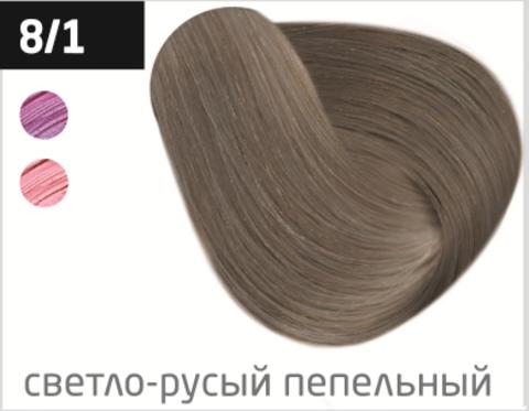 OLLIN silk touch 8/1 светло-русый пепельный 60мл безаммиачный стойкий краситель для волос