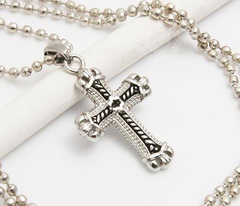 Мужская подвеска крест «Spikes» из ювелирной стали