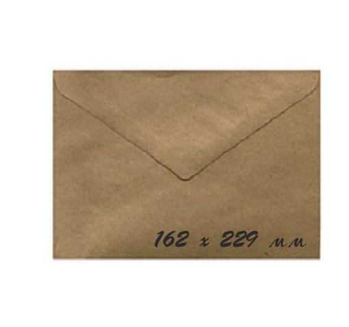 Крафт конверт 16,2x22,9 см, 80 г/м, 1 шт.