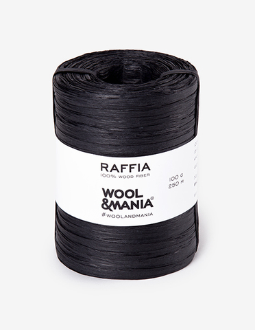 Пряжа RAFFIA Black