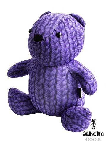 Подушка-игрушка антистресс «МиниМишка Вязаный», фиолетовый 3