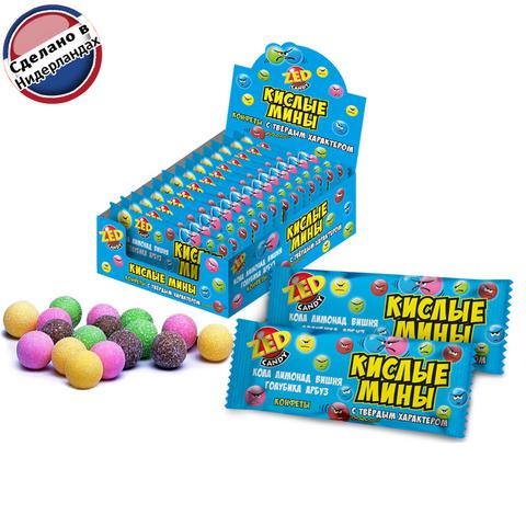 ZED Кислые мины конфеты-драже (5 вкусов) 1кор*12бл*16 шт. 35 гр.